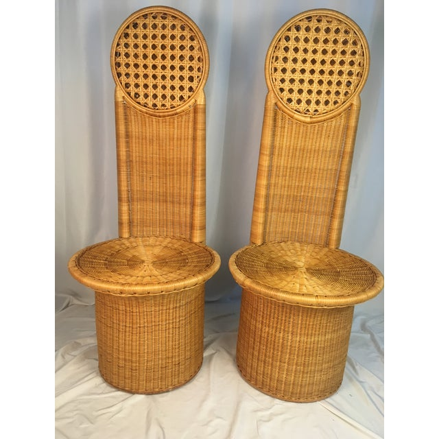 1980s Vintage Rattan Chairs - a Pair For Sale - Image 12 of 12