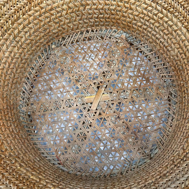 Chinese Antique Large Woven Empress Basket For Sale - Image 12 of 13