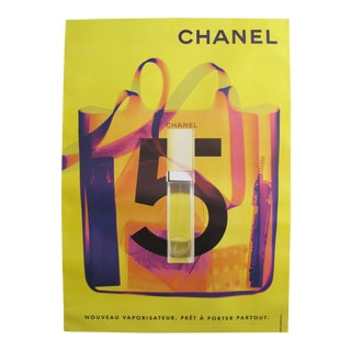 1998 Original Vintage Chanel No. 5 Poster (Yellow & Purple)