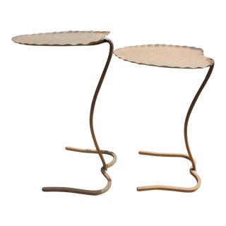 Mid-Century Salterini Lily Pad Outdoor Nesting Tables - a Pair For Sale