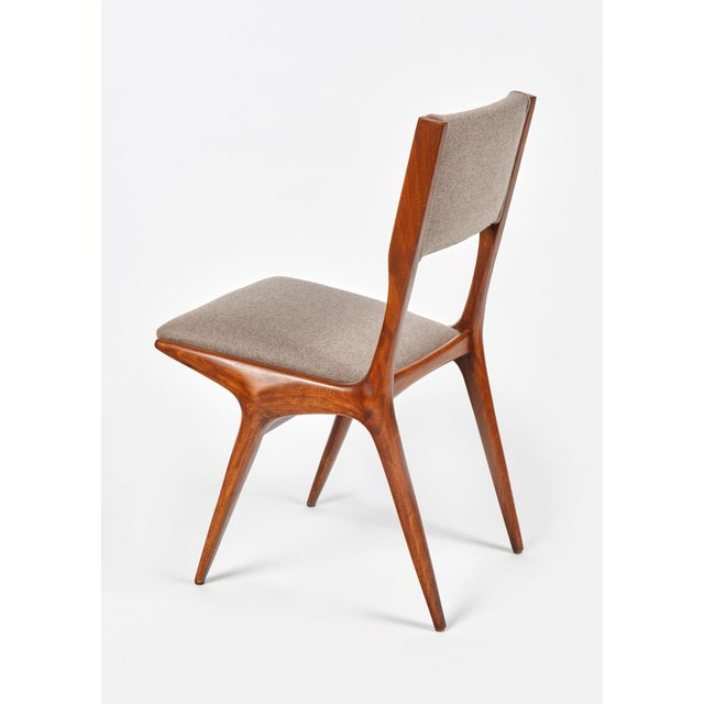 Carlo De Carli Mod 158 Dining Chairs, Italy, 1953 - Set of 6 For Sale In Los Angeles - Image 6 of 10