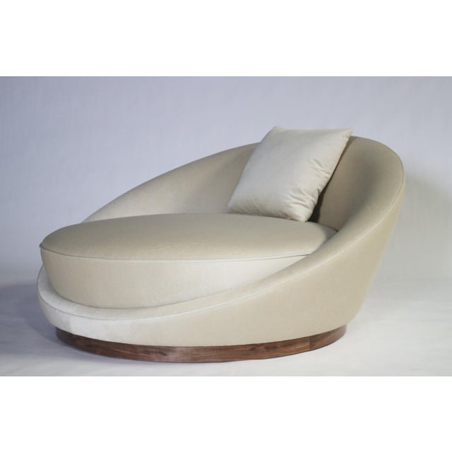 White Milo Baughman Satellite Chaise Lounge For Sale - Image 8 of 10