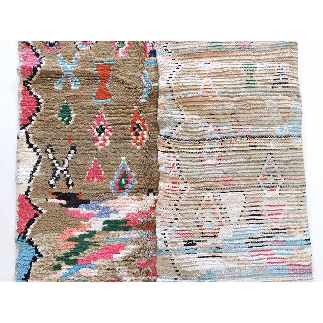 Moroccan Boucherouite Rug - 4′6″ × 6′5″ For Sale - Image 11 of 13