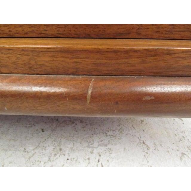Wood Vintage Modern Modern Bedroom Dresser For Sale - Image 7 of 8