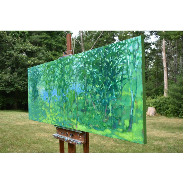"""A Midsummer Day's Dream"" Large (32"" X 80"") Contemporary Painting by Stephen Remick For Sale - Image 9 of 11"