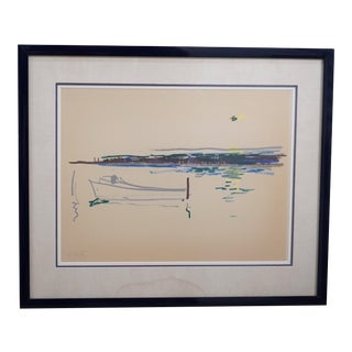 1965 Sailboat & Sunrise, Abstract For Sale