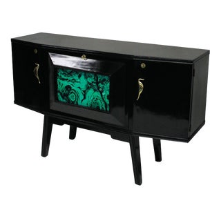 A Lacquered Italian Bar Credenza For Sale