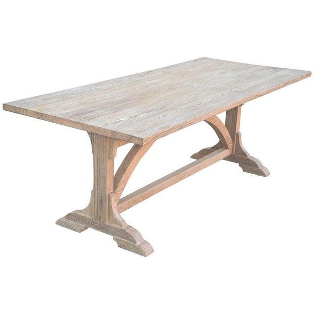 Petersen Antiques Heart Pine Expandable Farm Table For Sale - Image 11 of 11