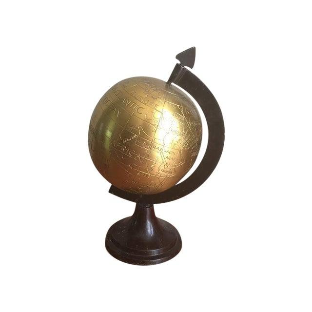 Vintage Brass Globe For Sale