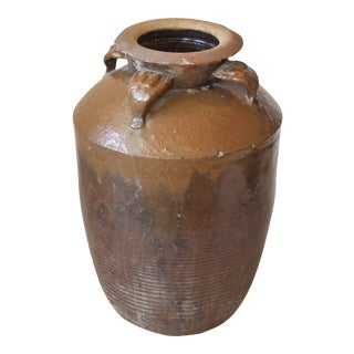 Large Antique Chinese Stoneware Pot, Shanxi Province, circa 1900 For Sale