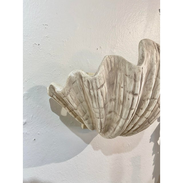 Mid-Century Modern Vintage Shell Wall Scone For Sale - Image 3 of 6
