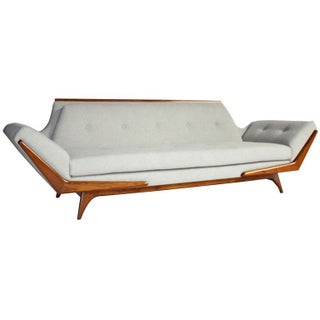 Pearsall Gray Gondola Style Sofa