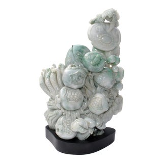Early 21st Century Vintage Chinese Natural Jade Jadeite Sculpture For Sale