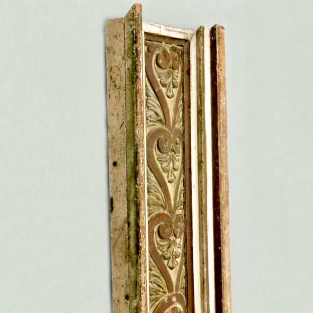French Gilded Hand Carved Architectural Element Wall Panel c.1900 For Sale - Image 4 of 5