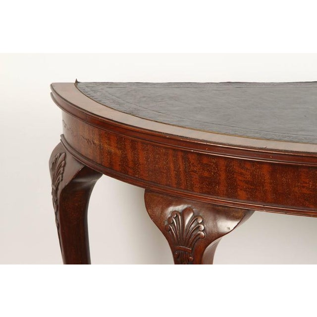 19th Century English demilune table For Sale - Image 4 of 10