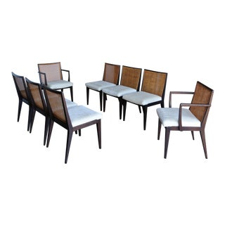Edward Wormley Caned Dining Chairs for Dunbar, 1955 - Set of 8 For Sale