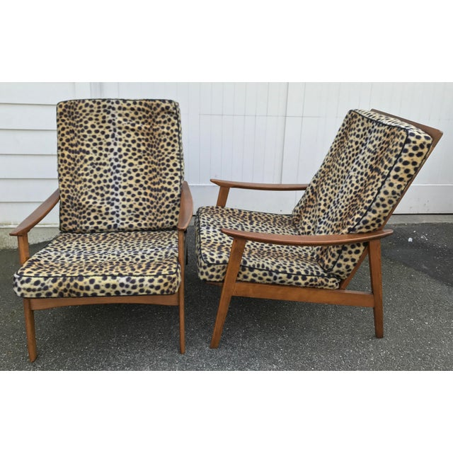Vintage Danish Modern High Back Armchairs - A Pair - Image 2 of 11