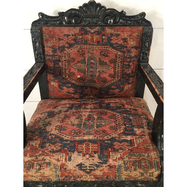 Antique Mexican Arm Chair - Image 6 of 7