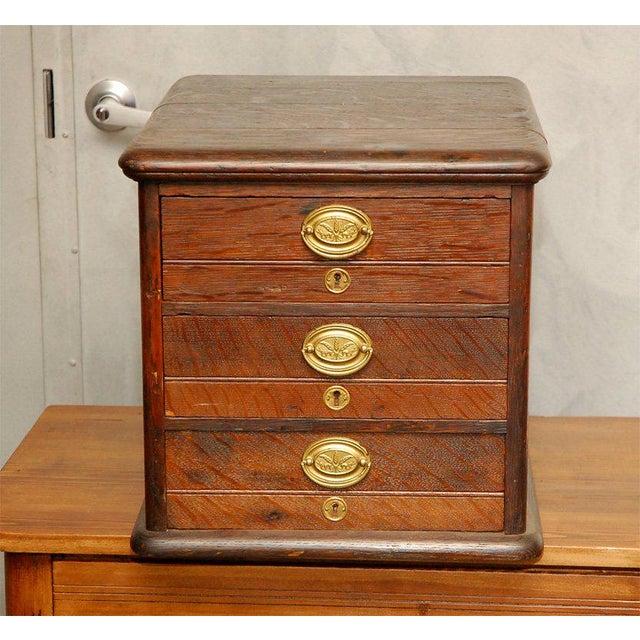 Metal Desk Top File Cabinet For Sale - Image 7 of 9
