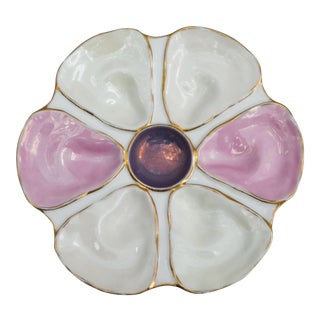 Antique Porcelain Oyster Plate