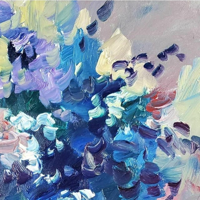 "Contemporary Jose Trujillo Large Impressionist Flowers Still Life - 16x20"" For Sale - Image 3 of 4"