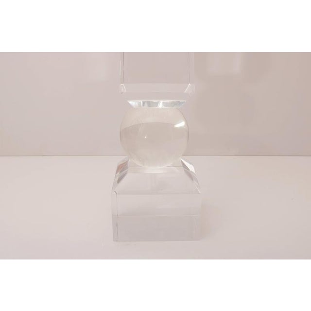 Large-Scale Clear Lucite Obelisk - Image 5 of 7