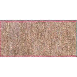 Recycled Wool Moroccan Rug - 3′3″ × 7′ For Sale