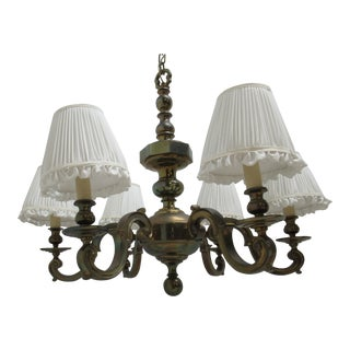 1974 Vintage Chapman Brass French Monumental Chandeliers - a Pair For Sale