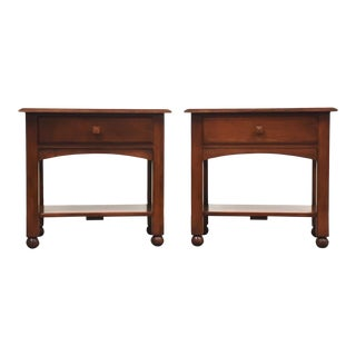 Ethan Allen American Dimensions Nightstands- a Pair Mid-Century Modern For Sale
