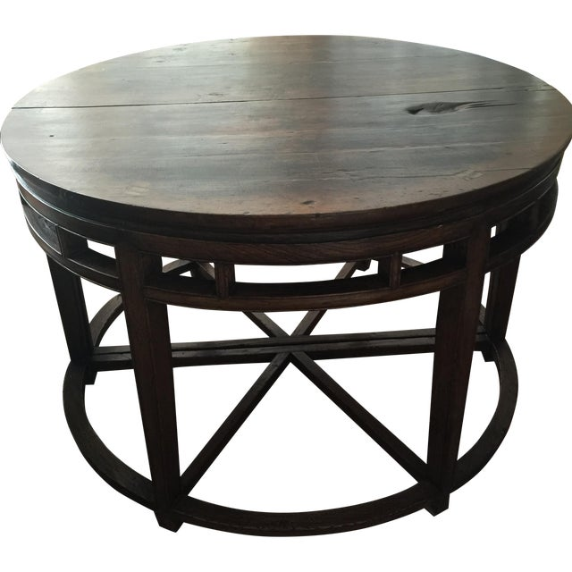 Anitique Chinese Chinois Demilune Tables - Pair - Image 1 of 10