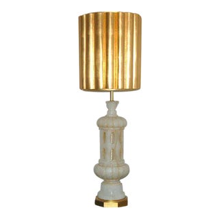 Marbro Alabaster Table Lamp White Large For Sale