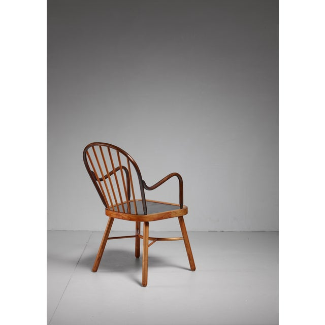 Modern Spindle chair, Austria, 1920s For Sale - Image 3 of 5