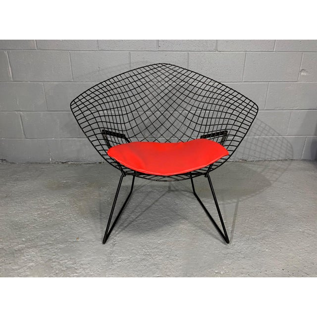Harry Bertoia for Knoll Mid-Century Modern Diamond Chair With Red Seat C. 1952 For Sale - Image 13 of 13