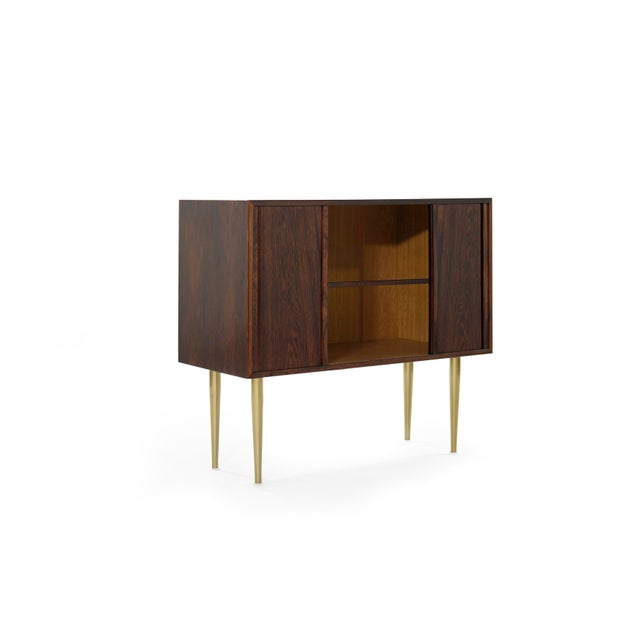 Mid 20th Century Danish Modern Rosewood Liquor Cabinet, C. 1950s For Sale - Image 5 of 10