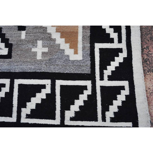 "Vintage 1920s Navajo Geometric Rug - 3′6″ x 73"" - Image 7 of 11"
