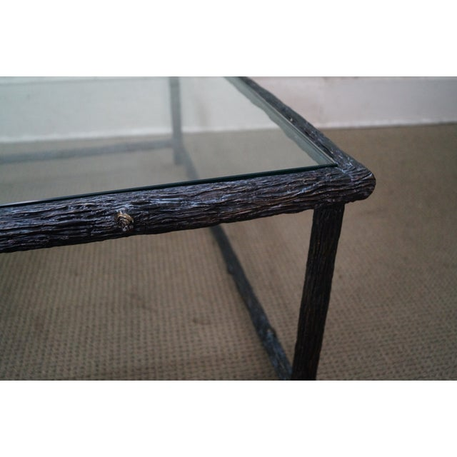 Faux Branch Coffee Table With Glass Top - Image 10 of 10