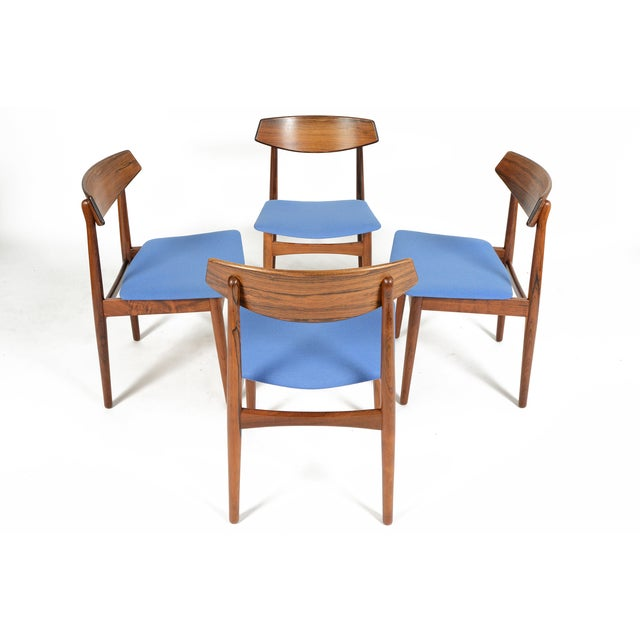 Danish Modern Rosewood Dining Chairs - Set of 4 - Image 4 of 11