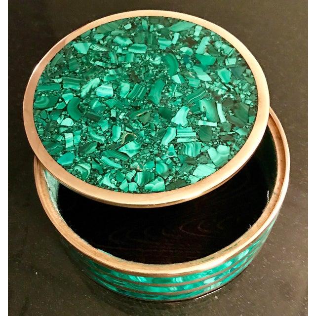 Round Malachite Jewelry Box - Image 4 of 5