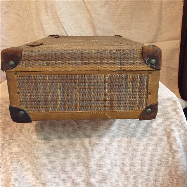 Traditional Rattan Suitcase For Sale - Image 3 of 11