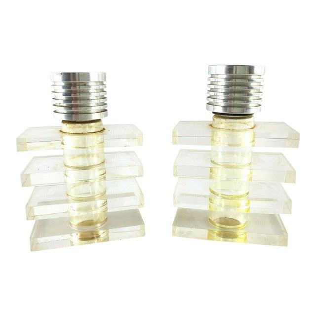 Art Deco Lucite Perfume Bottles- A Pair For Sale