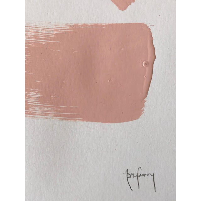 Title: Blush-Tatsic Artist: Tony Curry Modern Abstract Painting Hand Signed Original Painting on Professional Fine Art...