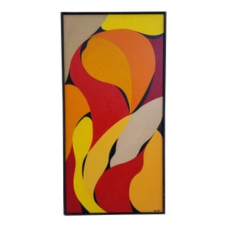 1980s Abstract Expressionist Painting by Smith