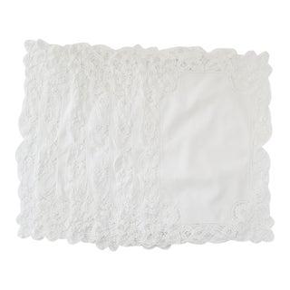 Antique Battenberg Lace Linen Napkins - Set of 6 For Sale