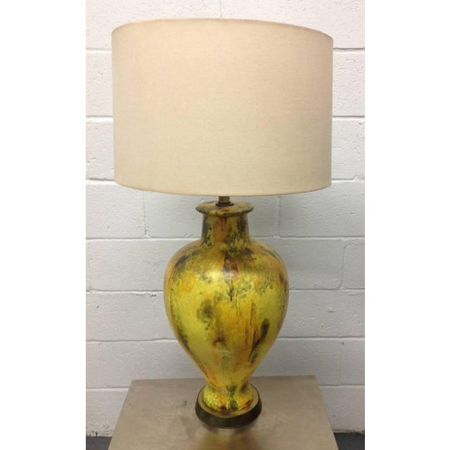 Large Pottery Lamp For Sale - Image 4 of 5