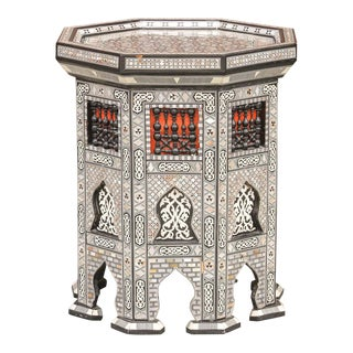 Mihrab Syrian Mother-Of-Pearl Table For Sale