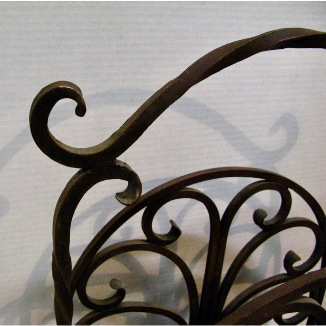 Old Heavy Cast Iron Log/Magazine Rack For Sale In West Palm - Image 6 of 9