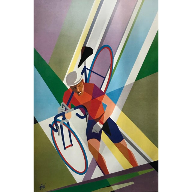 2002 Contemporary Cycling Poster, Foré (Arches Paper) For Sale - Image 6 of 6
