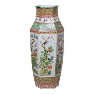 Contemporary Famille Rose Large Vase Porcelain by Cobalt Guild