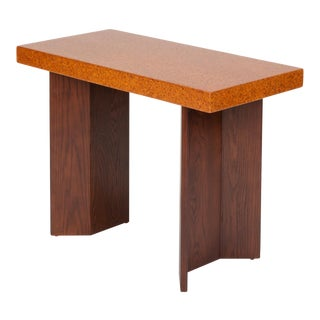Paul Frankl Cork Console Table for Johnson Furniture Co For Sale