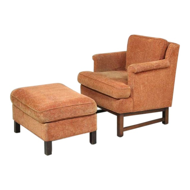 Edward Wormley Lounge Chair with Ottoman For Sale